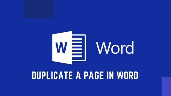 Duplicate a Page in Word